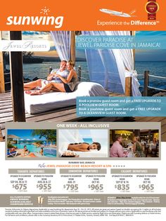 Featured Promotion - Discover Paradise at Jewel Paradise Cove in Jamaica