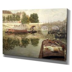 """WexfordHome 'The Seine' by Pere Ysern Painting Print on Wrapped Canvas Size: 18"""" H x 27"""" W x 1.5"""" D"""