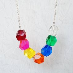 Multi colour geometric bead by PIRDY on Etsy, $35.00