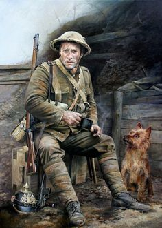 English soldier WWI on much needed break