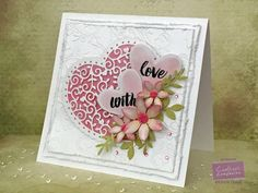 Happy Valentines day!!Thought I would share this card I made for Crafter's Companion.Lol Pink and white my favourites!!!!  Are you doing anything special today?Not sure what we are doing, last year Ca