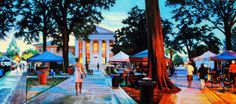 After the Game by Charlie Buckley, who graduated summa cum laude in 2004 with a BFA in painting, is the cover of the 2014 Oxford Chamber of Commerce-EDF Community Guide.     University of Mississippi College of Liberal Arts