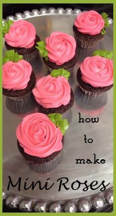 Mini Roses | Little Delights Cakes  use wilton tip number 5