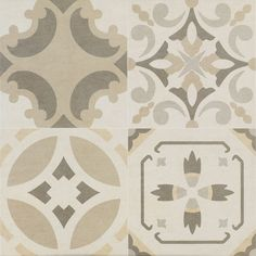 Part of our stylish collection of Beldi Tiles, these eye-catching Kamil Floor Tiles have a pale Moroccan Arabesque Design. They combine a mixture of floral-esque and other intricate patterns. www.wallsandfloors.co.uk/catrangetiles/moroccan-tiles/beldi-tiles/kamil-floor-tiles/20444/