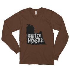Shih Tzu Monster - Long sleeve t-shirt (unisex)