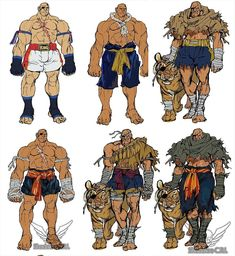 Sagat beckons for you to witness his early concepts. Sagat Street Fighter, Street Fighter Characters, Super Street Fighter, Fantasy Characters, Comic Books Art, Comic Art, World Of Warriors, Street Fights, Fighting Games