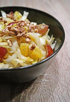 Fruchtiger Orangen-Chicorée Salat mit Walnüssen – inthemood4food