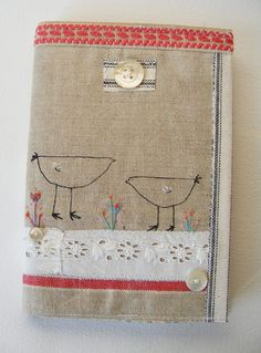 Journal with handmade textile collage cover