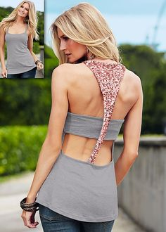 Sequin back tank by VENUS