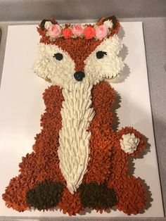 Fox cupcake cake!! Baby shower March 2018