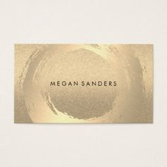 Gold Brushed / Glitter Business Card - stylist business card business cards cyo stylists customize personalize