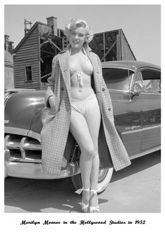 Rising star Marilyn Monroe poses for a portrait next to a 1950 Pontiac Chieftain on the backlot of 20th Century-Fox in 1951 in Los Angeles, California. (Photo by Earl Theisen)