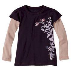 Burts Bees Baby™ Toddler Girls' Botanical Floral Tunic - Plum