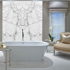 Bianco Marble Effect Book Matched 140x80cm Thin Porcelain Tiles