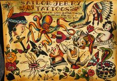 Sailor Jerry Tattoo Designs | Sailor Jerry Promo Flash Sheet