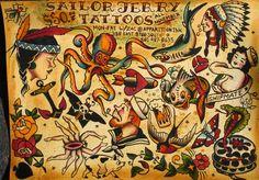 Sailor Jerry Tattoo Designs | Sailor Jerry Promo Flash Sheet