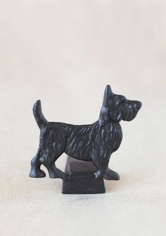 """Loyal Scottie Metal Doorstop 18.99 at shopruche.com. This charming cast iron door stop is features a delightful scottie dog with whimsical imperfections.Dog: 4.5"""" L x 5"""" H"""
