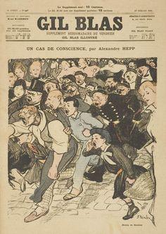 Un cas de conscience, d'Anlexandre Hepp / Illustration T-H Steinlen, dans Gil Blas Illustré, publié le 17 juillet 1896.