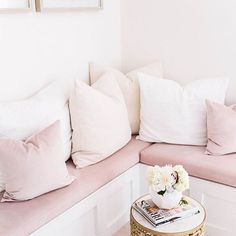 Soft blushy to soothe our frayed winter nerves. Thats our Lux Velvet on the bench cushions of an obviously dreamy bridal boutique. Thanks for tagging us @shannonclaire ! #mytonicliving