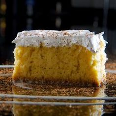 Pastel or Biscocho Tres Leches (three milks cake) Mexican recipe at MexGrocer.com, the largest nationwide online grocery store for authentic Mexican food, household products, Mexican cooking recipes, cookbooks and culture.