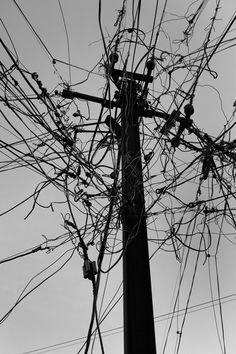 Connected, Rio de Janiero. electricity, wire, urban, favela, Brazil ...