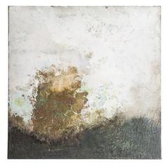 Matières & horizons de Cyrille Borgnet (mortier oxyde de fer et cuivre 80X80) 2012