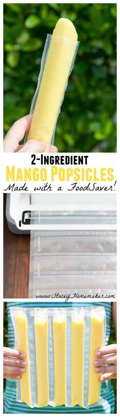 FoodSaver Mango Popsicles