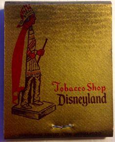 Tobacco Shop Disneyland #frontstriker #matchbook - To design & order your business' own logo #matches GoTo: GetMatches.com #phillumeny