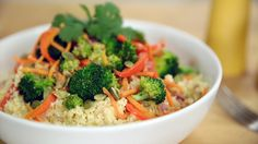 """Load Up on Veggies With This Cauliflower """"Rice"""" Stir-Fry: Go beyond your traditional stir-fry with this all vegetable, grain-free, cauliflower """"rice""""-based dish."""