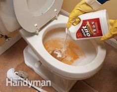 Top 10 Household Cleaning Tips from professional house cleaners: Use the right rust stain remover to clean toilets.