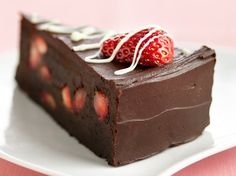Fudge Lover's Strawberry Truffle Cake - Yummy, yummy YES chocolate, one of my favorite desserts is the Fudge Lover's Strawberry Truffle Cake, you girls just have to try this recipe, forget for one day or one hour about any diet and just taste one piece of this mouth-watering truffle cake…you will love it!