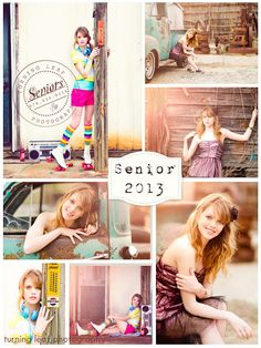 Senior portrait photography session. I Love the top left pic! :)