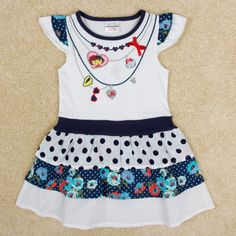 VESTIDO DIVERTIDO COM BOLINHAS,vestido dora infantil, transado, roupas transadas, roupa infantil,