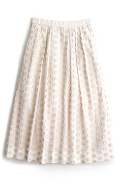 Fringe Dot Midi Skirt