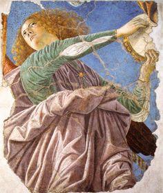 Melozzo da Forli Melozzo da Forli', Ange jouant du tambourin Musée du Vatican, Pinacothèque