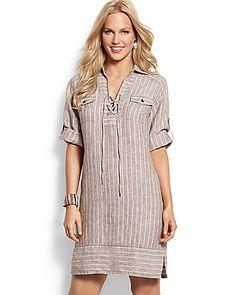 8992590312e Tommy Bahama - Two Palms Stripe Linen Dress