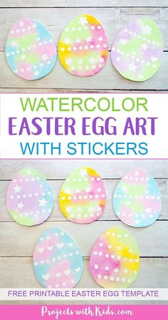 Use a simple watercolor resist method to create this gorgeous watercolor easter egg art with kids. Easy watercolor techniques that produce amazing results. So simple and fun for kids of all ages! Easter Arts And Crafts, Easter Activities For Kids, Easter Crafts For Kids, Crafts To Do, Easter Ideas, Easter Crafts For Preschoolers, Arts And Crafts For Kids Easy, Spring Activities, Tape Crafts