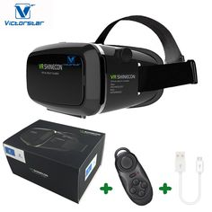 VICTORSTAR @ 3D VR Glasses + Rechargable Bluetooth Remote Controller, 3D VR Headset Virtual Reality Box with Adjustable Lens and Strap ,Suitable for 3.5-6.0 inch Smartphone for 3D Movies and Games. 1, Your own private 3D cinema anywhere. Smartphone turned into virtual reality viewer. Enjoy your own portable cinema more convenient than 3D viewing glasses and better than Google cardboard. Revel into the world of VR. Watch 3D movies and play games while siting, standing, lying , at home…