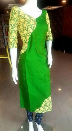 Amazing kurti styles to inspire your tailor - ArtsyCraftsyDad Silk Kurti Designs, Salwar Designs, Blouse Designs, Punjabi Fashion, African Fashion, Kurti Styles, Indian Bridal Wear, Anarkali Dress, Indian Designer Wear