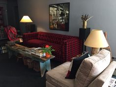 COCOCo Home Arden Sofa in Woolrich #plaid  www.cococohome.om