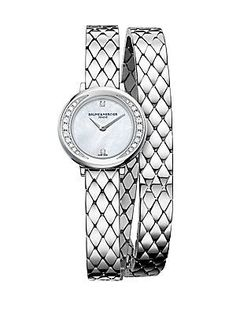 Baume & Mercier Petite Promesse 10289 Diamond & Stainless Steel Wr