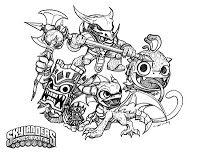 CrabFu Blog: Skylanders Speed Drawing & Coloring Pages