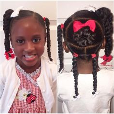 Curly short hair styles always look adorable on little girls. As a result, we see many young girls sport curls. Lil Girl Hairstyles, Black Kids Hairstyles, Natural Hairstyles For Kids, Princess Hairstyles, My Hairstyle, Beautiful Hairstyles, Braid Hairstyles, Toddler Hairstyles, Little Girl Braids