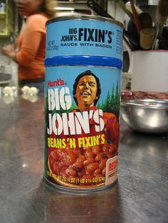 Big John's Beans 'N Fixins.  My Uncle Harold made these every Saturday night with grilled burgers