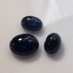 5.8 carat set of Thai Blue Sapphire Cabochons