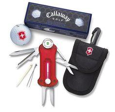 nice Victorinox Swiss Army Golf Tool With Callaway Golf Balls