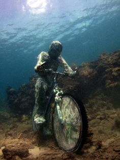 The Underwater Sculpture Park is the work of sculptor Jason Taylor from England, who has a passion for creating fantastic and unique pieces of work depicting Grenada's colourful history and folklore and placing them underwater. Under The Water, Under The Sea, Underwater Sculpture, Underwater Art, Underwater Photographer, Jason Decaires Taylor, Sunken City, Equador, Museum