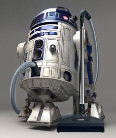 Star Wars Robot Vacuum Cleaner - Droids Star Wars - Ideas of Droids Star Wars - Star Wars Robot Vacuum Cleaner May inspire kids to vacuum and Dad too www. Jar Jar Binks, R2d2, Ultimate Star Wars, Decoration Originale, Bizarre, Cool Gadgets, Geek Gadgets, Geeks, Housekeeping