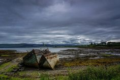 beach landscape sea coast water nature ocean horizon cloud sky boat morning shore wave old river vehicle bay abandoned waterway body of water boats ships damaged shipwrecks loch landform fishing boats wrecks geographical feature