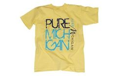 Pure Michigan Distressed Block Youth T-Shirt